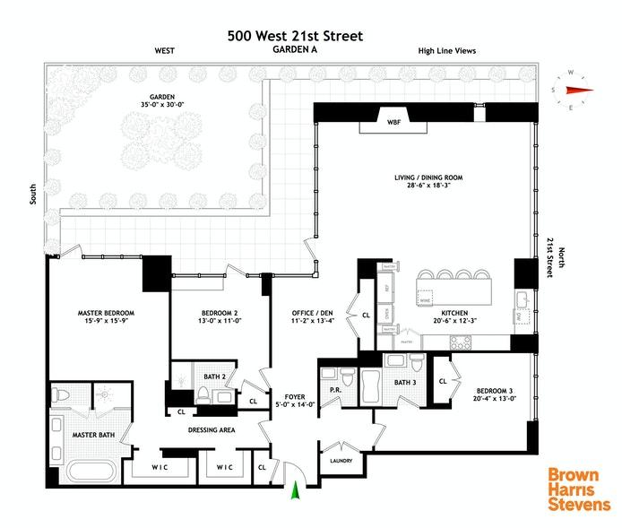 500 West 21st Street Garden/A, Greenwich Village/Chelsea, NYC, $22,500, Web #: 20170642