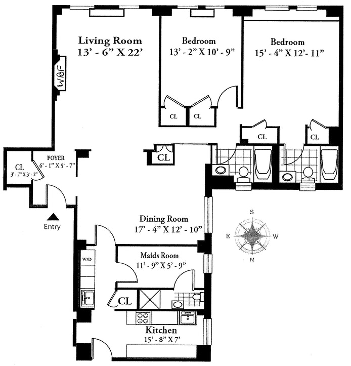 325 East 57th Street 12A, Midtown East, NYC, $1,795,000, Web #: 20178304