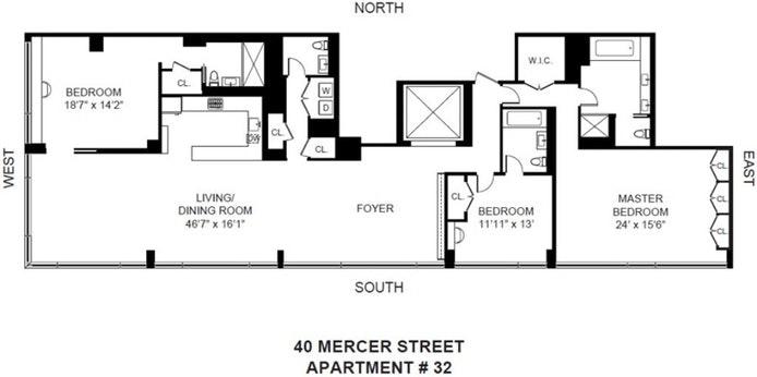 40 Mercer Street 32, Tribeca/SOHO/Chinatown, NYC, $22,000, Web #: 20184642