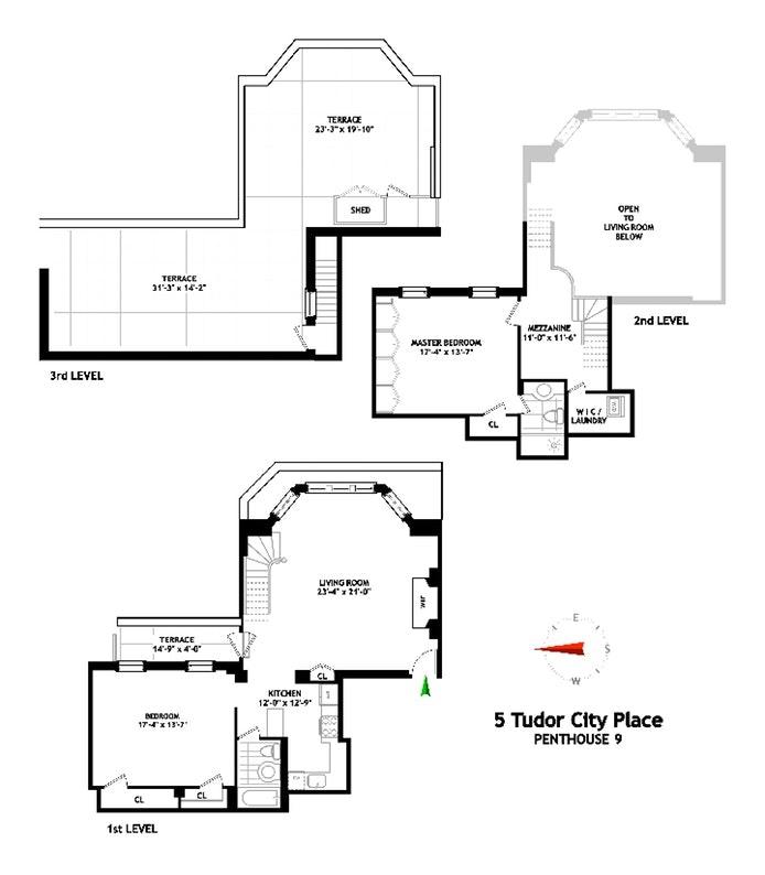 5 Tudor City Place Ph9, Murray Hill Kips Bay, NYC, $1,900,000, Web #: 20187168