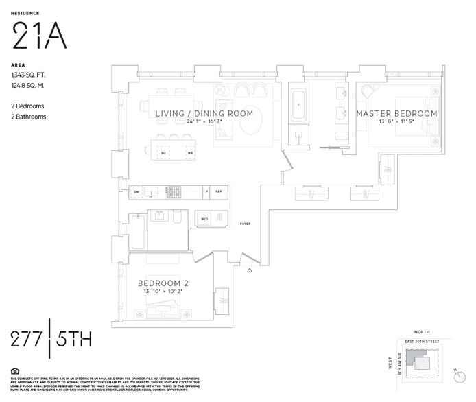 277 Fifth Avenue 21A, Murray Hill/Kips Bay, NYC, $9,995, Web #: 20188699