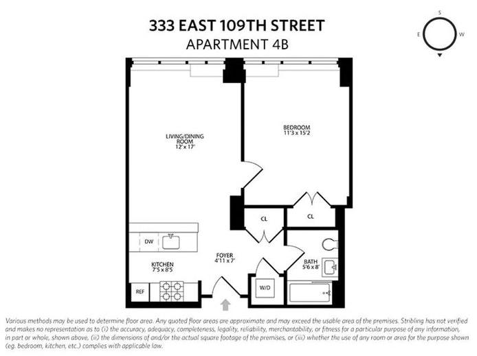 333 East 109th Street 4B, East Harlem, NYC, $2,550, Web #: 20194727
