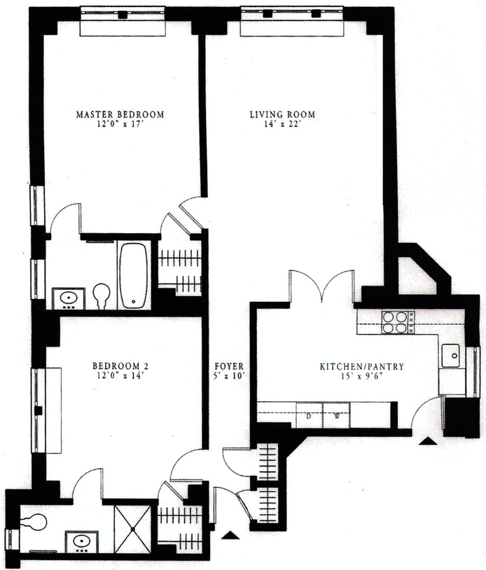 1200 Fifth Avenue 5D, Upper East Side, NYC, $5,900, Web #: 20204389