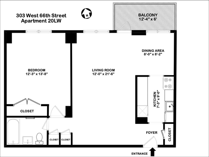 303 West 66th Street 20Lw, Upper West Side, NYC, $725,000, Web #: 20205157