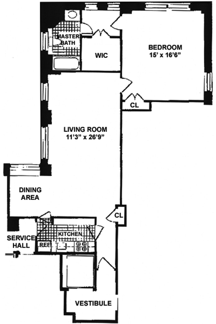 525 Park Avenue 8D, Upper East Side, NYC, $4,061, Web #: 20219194