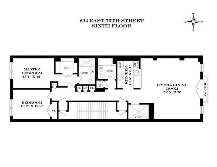 234 East 70th Street 6Flr, Upper East Side, NYC, $2,150,000, Web #: 20219721