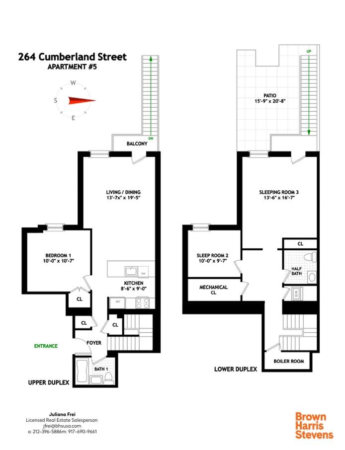 264 Cumberland St 5, Fort Greene, New York, $2,125,000, Web #: 20223517