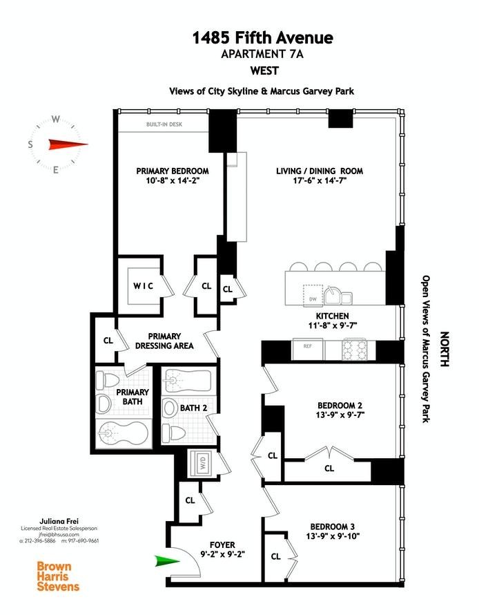 1485 Fifth Avenue 7A, East Harlem, NYC, $1,550,000, Web #: 20223555