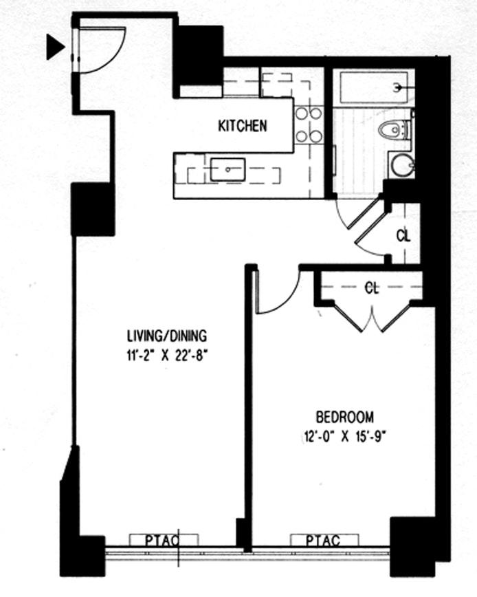 322 West 57th Street 25N, Midtown West, NYC, $1,290,000, Web #: 20224147