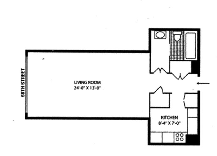 117 East 57th Street 45F, Midtown East, NYC, $720,000, Web #: 20224571