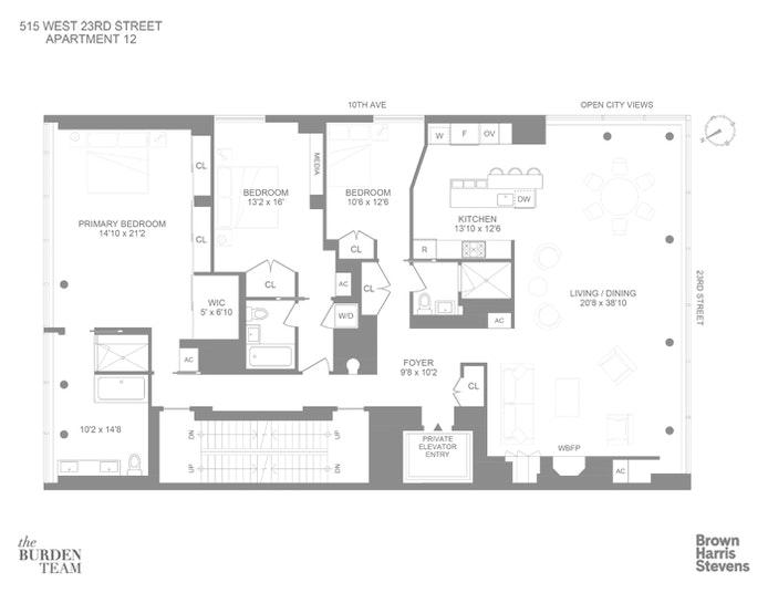 515 West 23rd Street 12, Chelsea, NYC, $7,495,000, Web #: 20230550