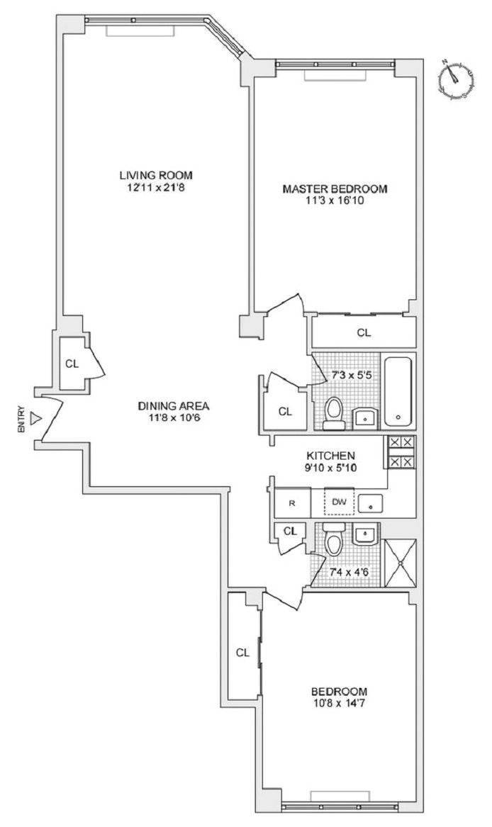 116 East 66th Street 4E, Upper East Side, NYC, $1,350,000, Web #: 20231749