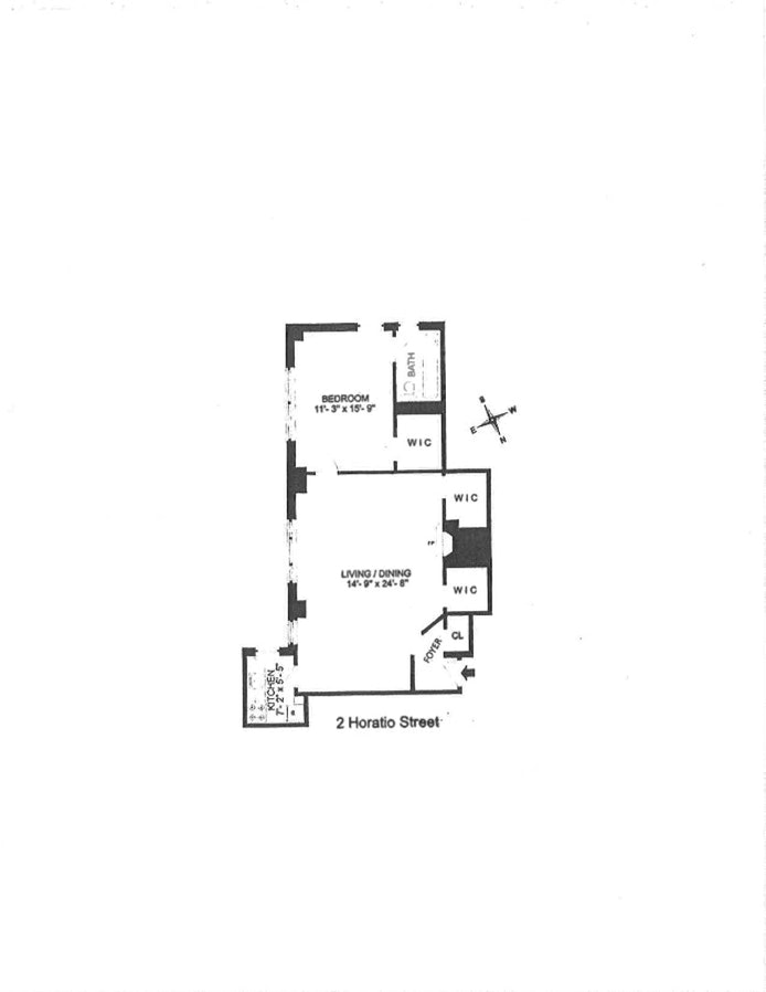 2 Horatio Street 16M, West Village, NYC, $1,275,000, Web #: 20233051