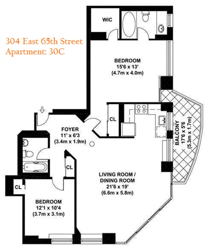 304 East 65th Street 30C, Upper East Side, NYC, $1,850,000, Web #: 20234971