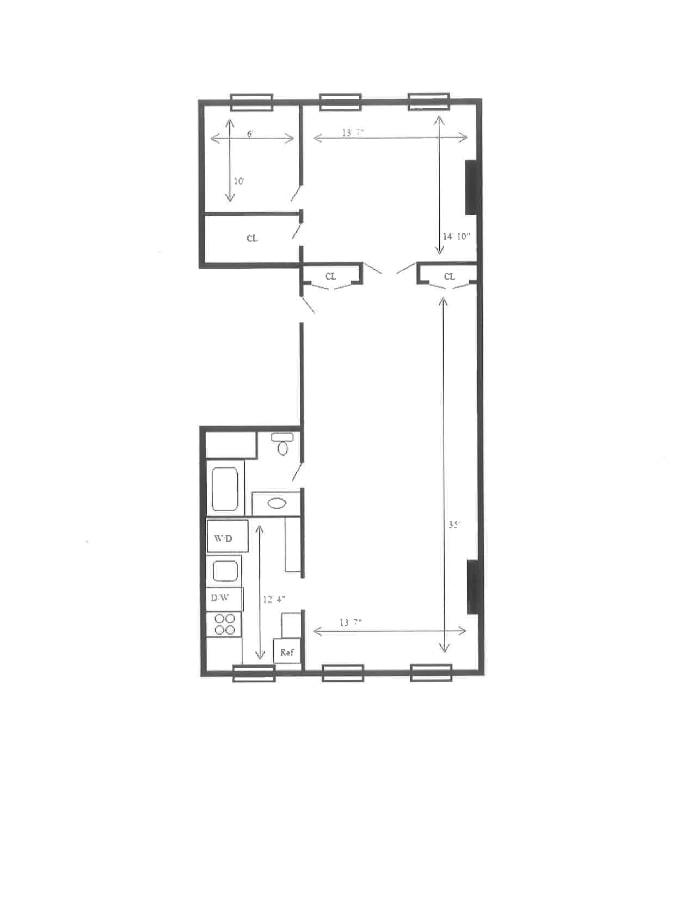 238 West 22nd Street 2, Greenwich Village/Chelsea, NYC, $3,800, Web #: 20236213