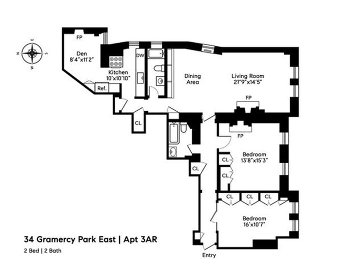 34 Gramercy Park East 3A/R, Gramercy Park, NYC, $2,295,000, Web #: 20243077