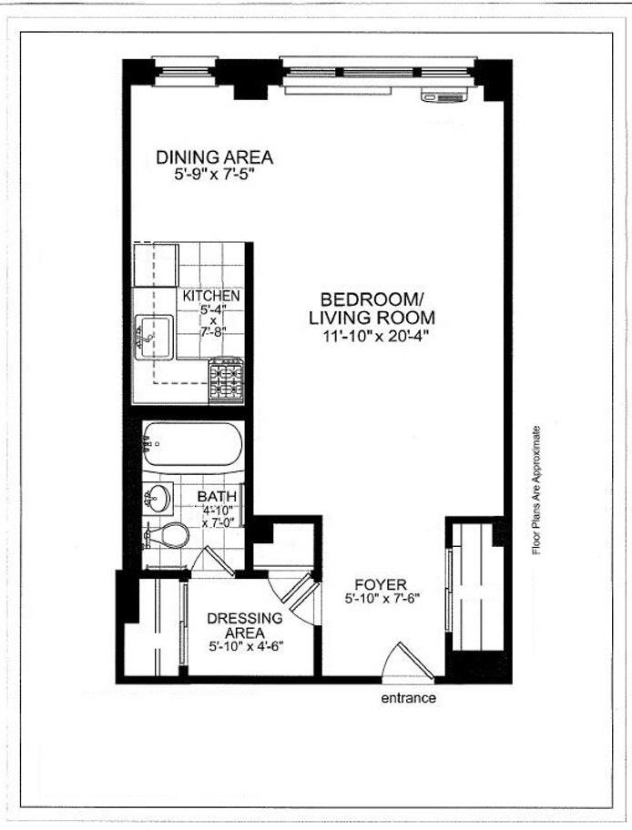 250 East 39th Street 6G, Midtown East, NYC, $2,350, Web #: 20251160