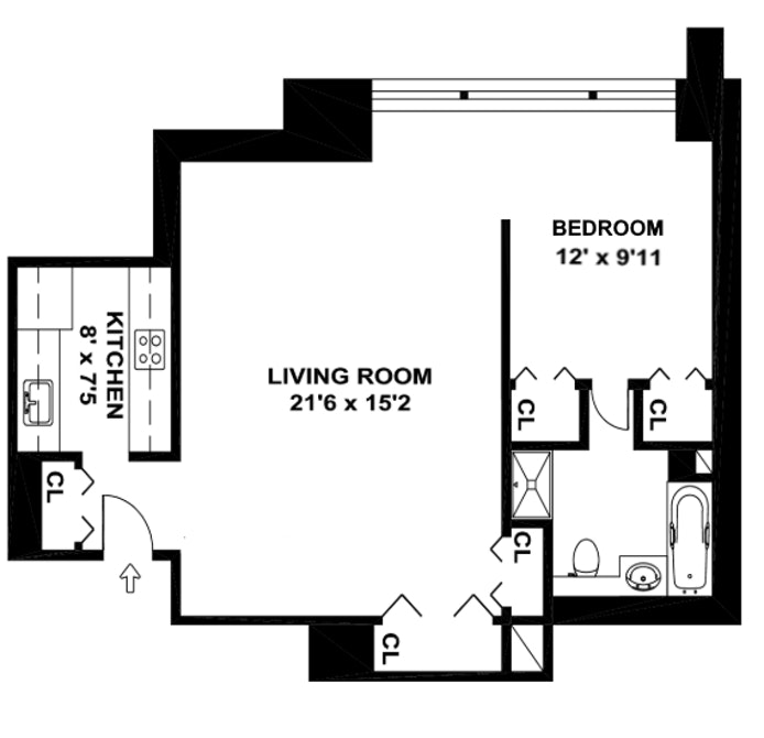 118 East 60th Street 32A, Upper East Side, NYC, $2,750, Web #: 20252789