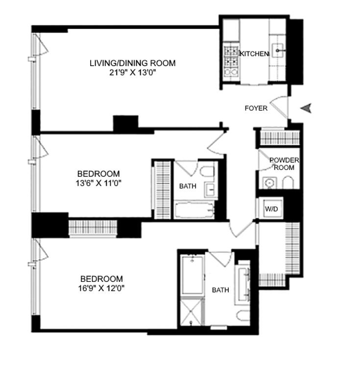 400 East 67th Street 7C, Upper East Side, NYC, $1,975,000, Web #: 20252802