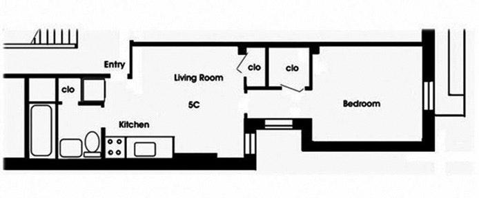 219 West 20th Street 5B, Chelsea, NYC, $2,650, Web #: 20263783