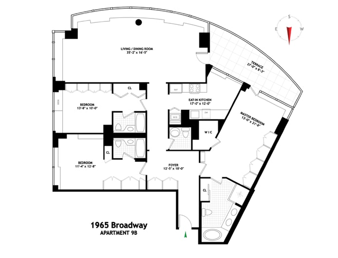 1965 Broadway 9B, Upper West Side, NYC, $13,500, Web #: 20266164