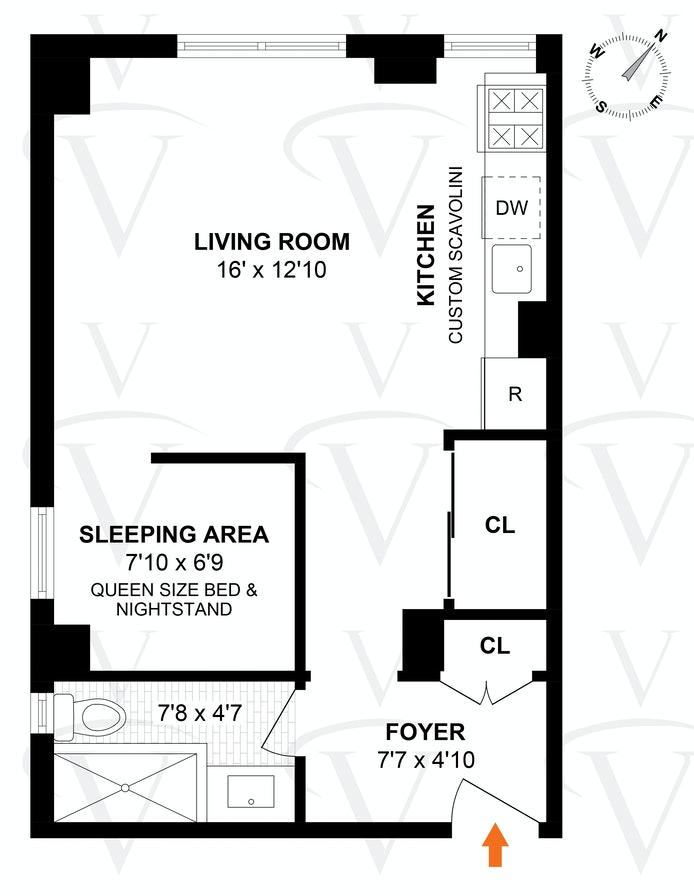 300 West 23rd Street 6C, Midtown West, NYC, $589,000, Web #: 20269455