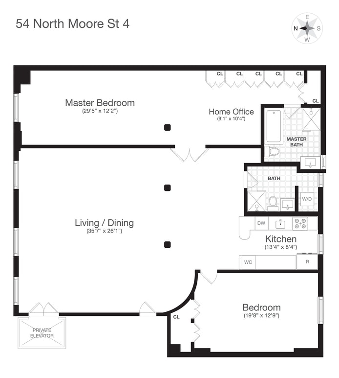54 North Moore Street 4W, Tribeca/SOHO/Chinatown, NYC, $11,250, Web #: 20270055