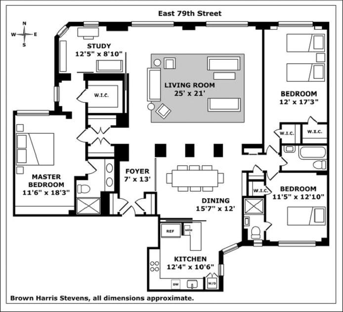 330 East 79th Street 5De, Upper East Side, NYC, $2,495,000, Web #: 20271461