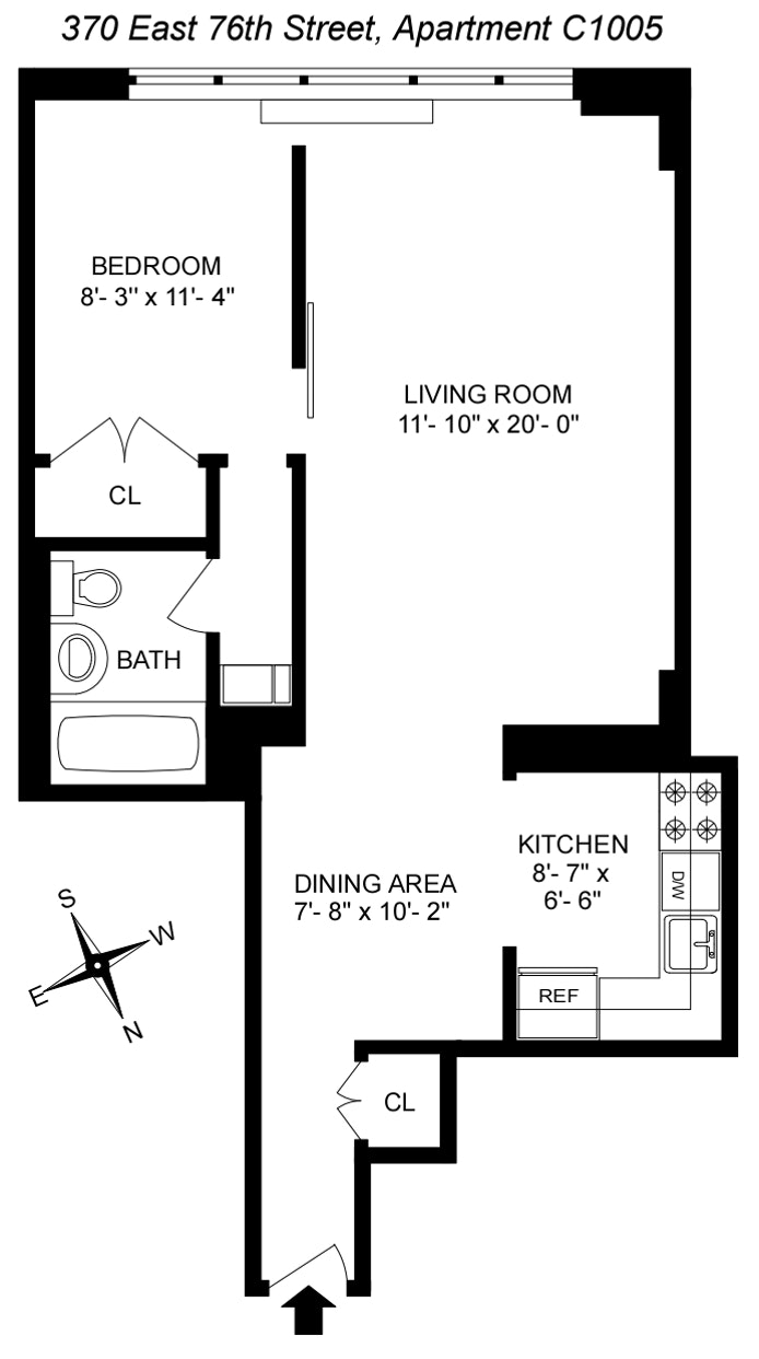 370 East 76th Street C1005, Upper East Side, NYC, $625,000, Web #: 20274200