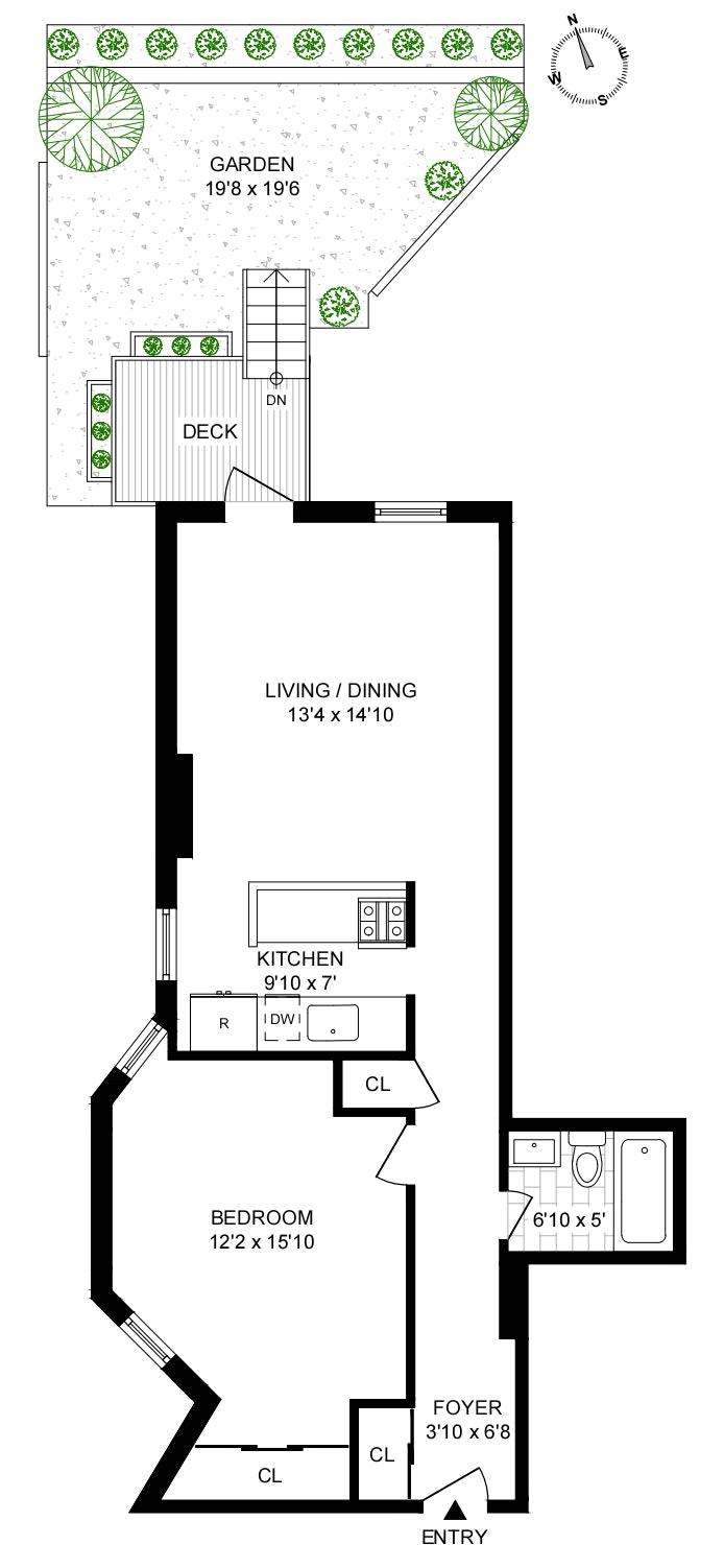 195 Garfield Place 1K, Park Slope, New York, $630,000, Web #: 20280719