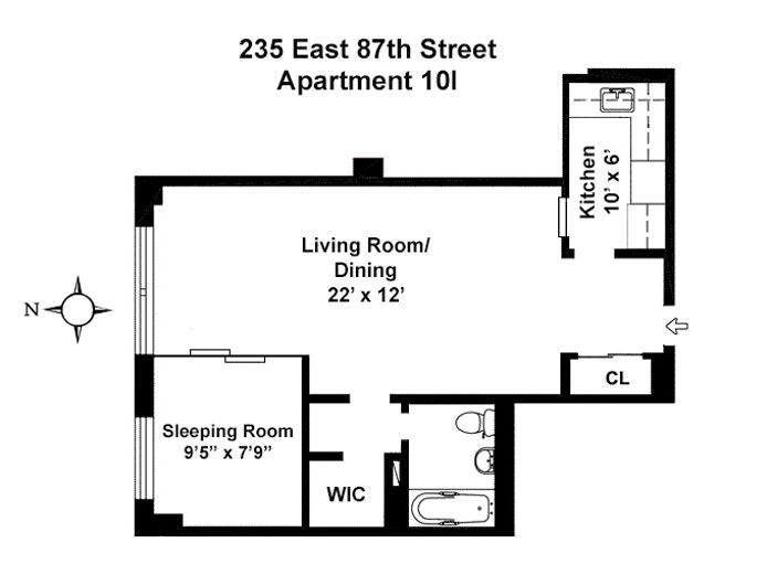 235 East 87th Street 10I, Upper East Side, NYC, $489,000, Web #: 20281554