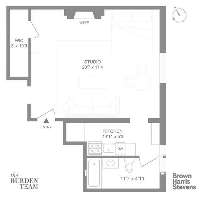 10 Montague Terrace 4B, Brooklyn Heights, New York, $4,250, Web #: 20282864