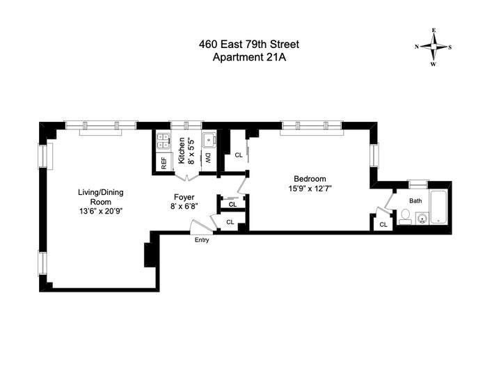460 East 79th Street 21A, Upper East Side, NYC, $895,000, Web #: 20285977