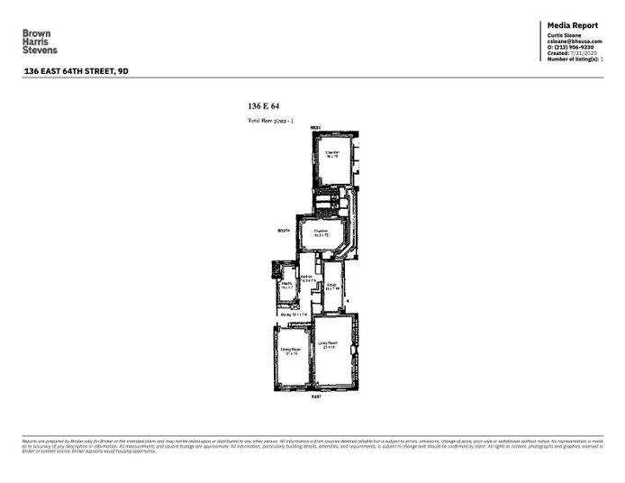 136 East 64th Street 9D, Upper East Side, NYC, $13,000, Web #: 20288048