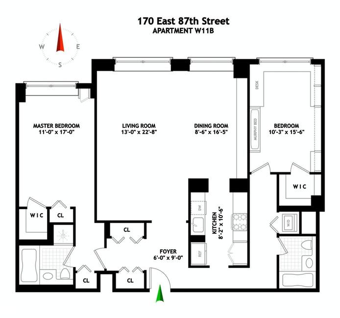 170 East 87th Street W11b, Upper East Side, NYC, $7,500, Web #: 20288604