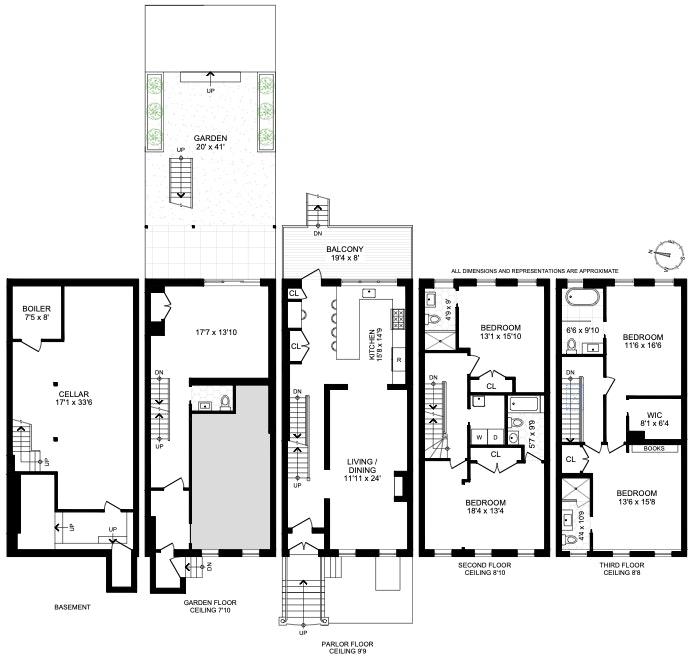 123 Washington Avenue Triplex, Clinton Hill, New York, $12,000, Web #: 20288620