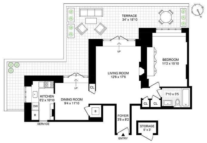 24 West 55th Street Pha, Midtown West, NYC, $995,000, Web #: 20298254