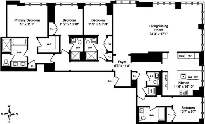 200 East 95th Street 15B, Upper East Side, NYC, $5,600,000, Web #: 20298460