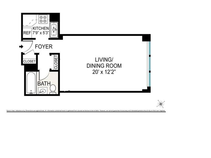 233 East 69th Street 17M, Upper East Side, NYC, $399,000, Web #: 20302221