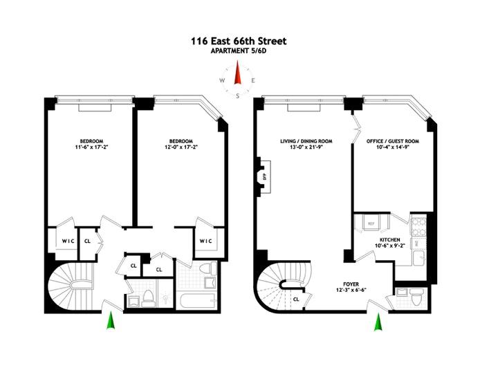 116 East 66th Street 5/6D, Upper East Side, NYC, $1,550,000, Web #: 20302391