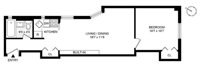 15 Jones Street 4E, West Village, NYC, $675,000, Web #: 20302586