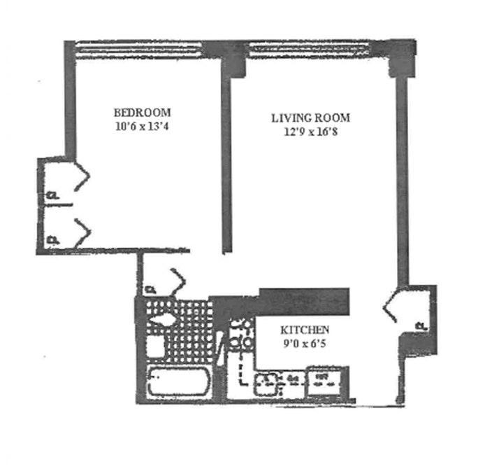 130 West 67th Street 14H, Upper West Side, NYC, $750,000, Web #: 20307199