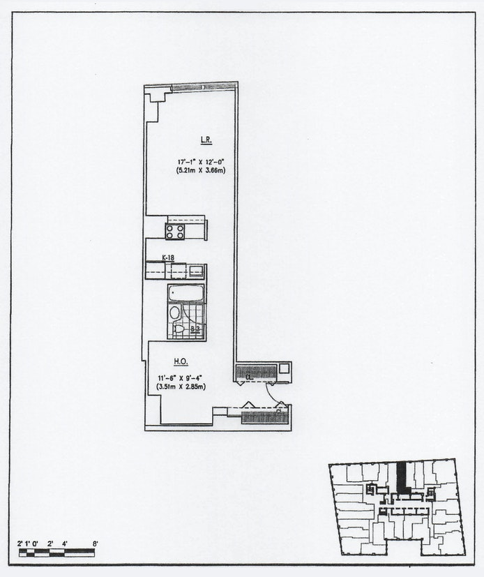 88 Greenwich Street 413, Financial District, NYC, $549,000, Web #: 20308998