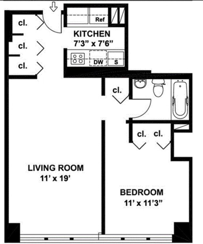 301 East 45th Street 12C, Midtown East, NYC, $2,700, Web #: 20309114