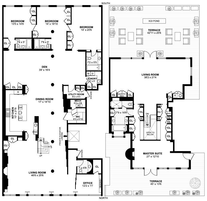 45 Walker Street Ph, Tribeca, NYC, $13,995,000, Web #: 20310924