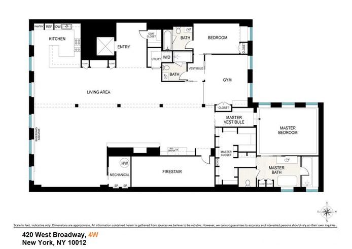420 West Broadway 4W, Soho, NYC, $27,500, Web #: 20312850