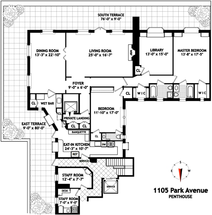 1105 Park Avenue Ph, Upper East Side, NYC, $4,100,000, Web #: 20319053