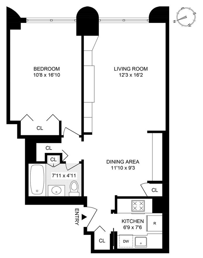 44 West 62nd Street 6E, Upper West Side, NYC, $675,000, Web #: 20322498