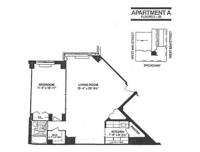 225 West 83rd Street 7A, Upper West Side, NYC, $3,750, Web #: 20327144