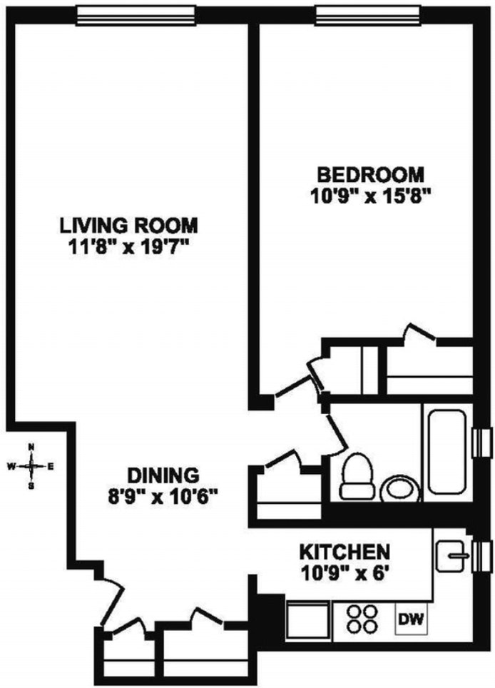 345 East 54th Street 4H, Midtown East, NYC, $549,000, Web #: 20327325